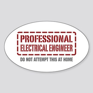 Professional Electrical Engineer Oval Sticker