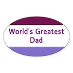 World's Greatest Dad Oval Sticker (10 pk)