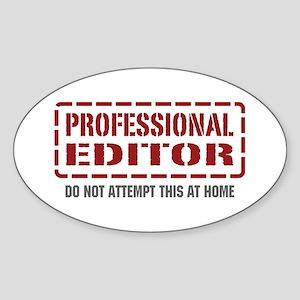 Professional Editor Oval Sticker