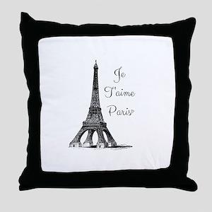 Je T'aime Paris Throw Pillow