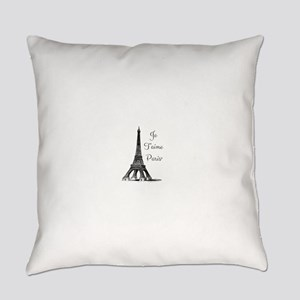 Je T'aime Paris Everyday Pillow