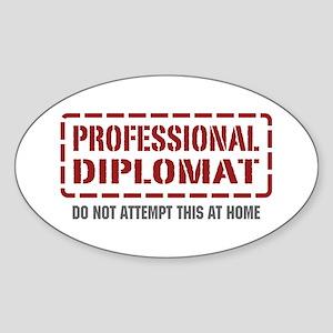 Professional Diplomat Oval Sticker