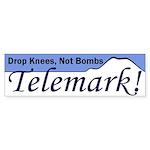 Drop Knees Telemark Bumper Sticker