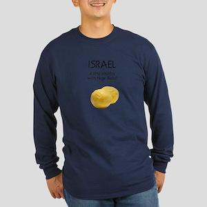 Israel: Huge balls Long Sleeve Dark T-Shirt