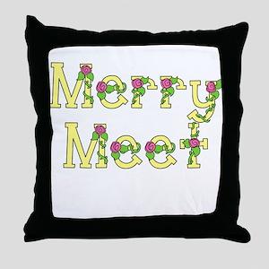 Merry Meet & Merry Part Throw Pillow