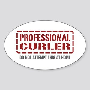 Professional Curler Oval Sticker