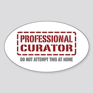 Professional Curator Oval Sticker
