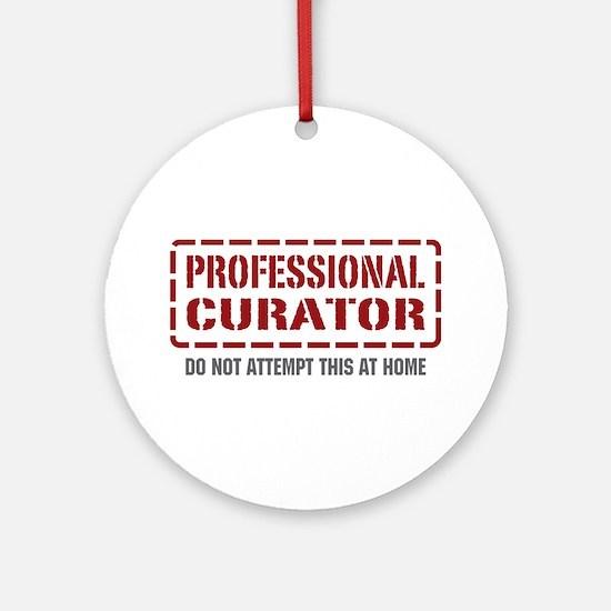 Professional Curator Ornament (Round)