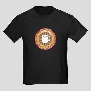 Instant Truck Driver Kids Dark T-Shirt