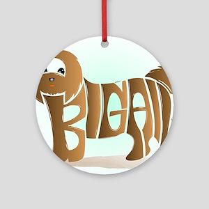 Abigail (Brown Shih Tzu) Ornament (Round)