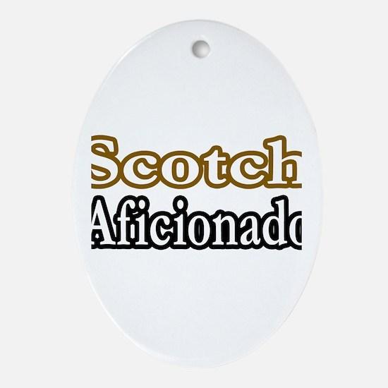 """""""Scotch Aficionado"""" Oval Ornament"""
