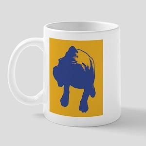 Boxer - blue/orange Mug