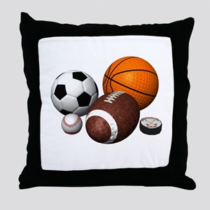 sports balls Throw Pillow