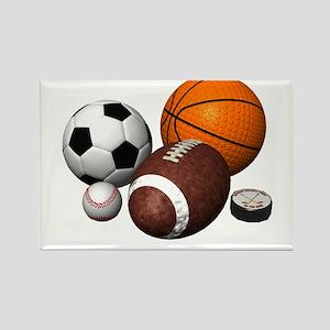sports balls Rectangle Magnet