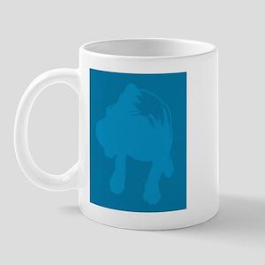 Boxer - blue-on-blue Mug