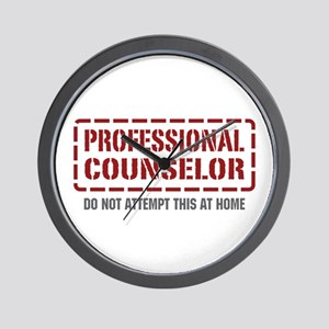 Professional Counselor Wall Clock