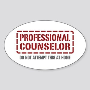 Professional Counselor Oval Sticker