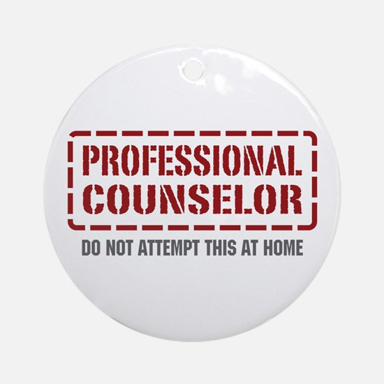 Professional Counselor Ornament (Round)