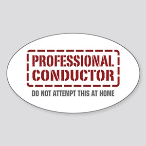 Professional Conductor Oval Sticker