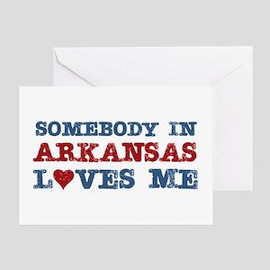 Somebody in Arkansas Loves Me Greeting Card