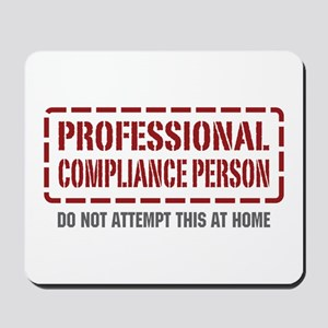 Professional Compliance Person Mousepad