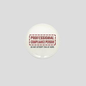 Professional Compliance Person Mini Button