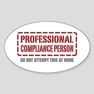 Professional Compliance Person Oval Sticker