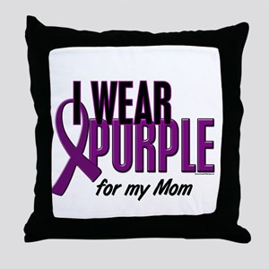 I Wear Purple For My Mom 10 Throw Pillow