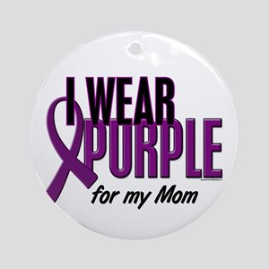 I Wear Purple For My Mom 10 Ornament (Round)