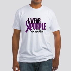 I Wear Purple For My Mom 10 Fitted T-Shirt