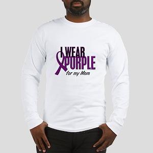 I Wear Purple For My Mom 10 Long Sleeve T-Shirt
