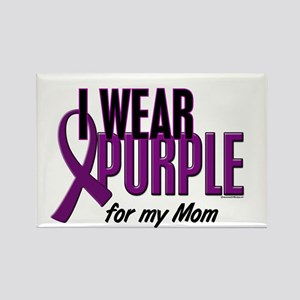 I Wear Purple For My Mom 10 Rectangle Magnet