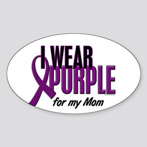 I Wear Purple For My Mom 10 Oval Sticker