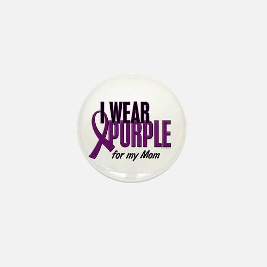 I Wear Purple For My Mom 10 Mini Button
