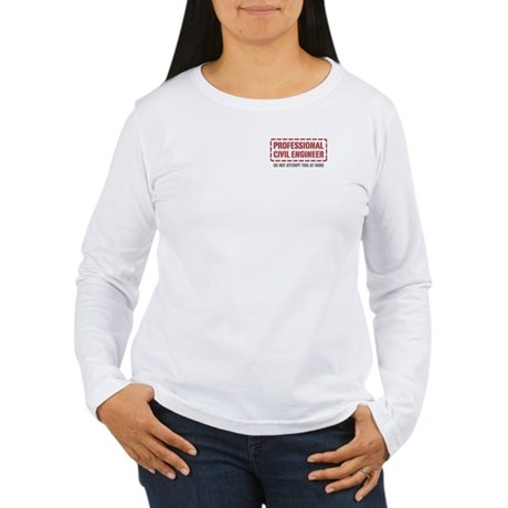 Professional Civil Engineer Women's Long Sleeve T-