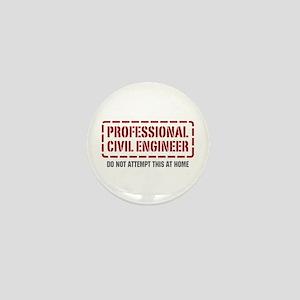 Professional Civil Engineer Mini Button