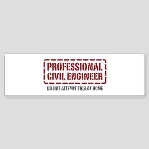 Professional Civil Engineer Bumper Sticker