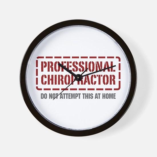 Professional Chiropractor Wall Clock