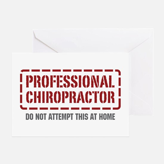 Professional Chiropractor Greeting Card