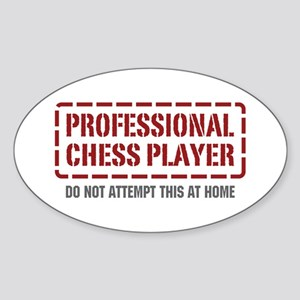 Professional Chess Player Oval Sticker