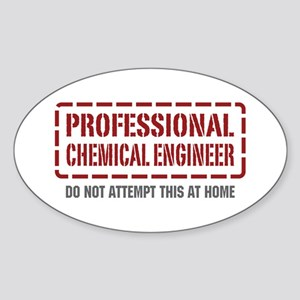 Professional Chemical Engineer Oval Sticker