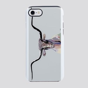 Longhorn in Denim Colors iPhone 8/7 Tough Case