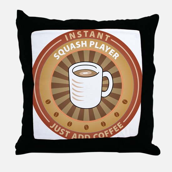 Instant Squash Player Throw Pillow