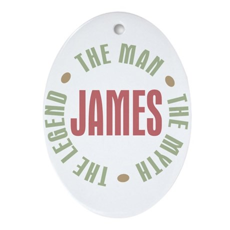 James Man Myth Legend Oval Ornament
