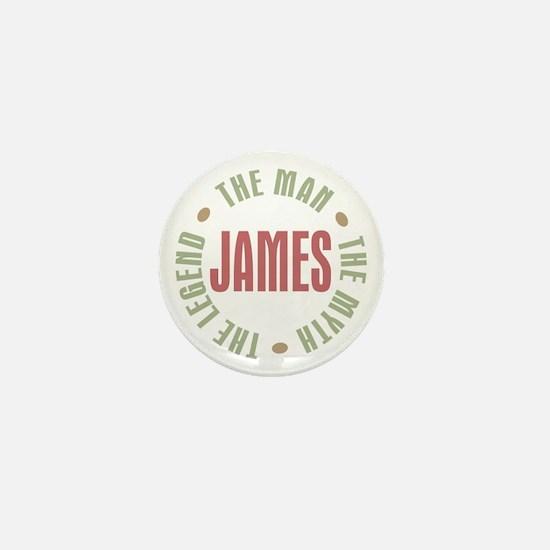 James Man Myth Legend Mini Button