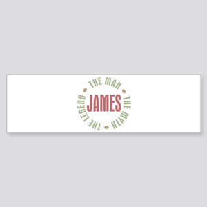James Man Myth Legend Bumper Sticker