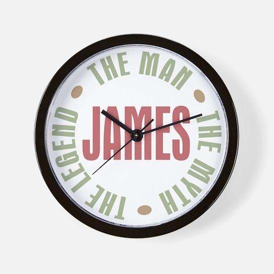 James Man Myth Legend Wall Clock