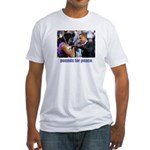Pounds for Peace Fitted T-Shirt