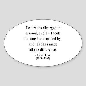 Robert Frost 1 Oval Sticker
