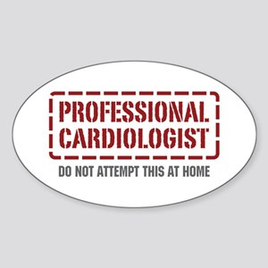 Professional Cardiologist Oval Sticker